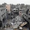 Cartierul general al Guvernului Hamas, distrus complet in urma unui bombardament israelian