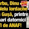 Adrian Sarbu, Nelu Iordache, Dinu Patriciu si Cozmin Gusa, printre cei mai mari datornici executati de ANAF