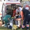 Numai la Caracal se putea intampla: Un ranit grav intr-o explozie, scapat de pe targa