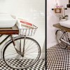 O idee interesanta de mobilier: Bicicleta de baie!