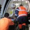 Carambol pe DN7. Cinci masini s-au lovit, doi oameni pe mana medicilor