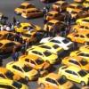 Taximetristii protesteaza in fata Guvernului/Restrictii de circulatie in centrul orasului