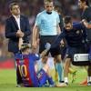 Cat sta Messi pe bara, dupa accidentarea din meciul cu Atletico