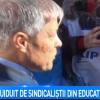 Desi departe de Capitala, Ciolos n-a scapat de nemultumirile sindicalistilor (VIDEO)
