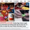 Presa britanica: Micuti romani muncesc pe rupte, pe sume mizerabile, asambland jucarii din oua de ciocolata