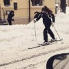 Cu schiurile prin Capitala!