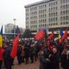 A fost miting pro-Guvern, in centrul Pitestiului, la initiativa PSD Arges (VIDEO)