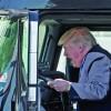 Trump, sofer de TIR