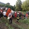 Autocar cu 37 de persoane la bord, accident in Brasov: 12 raniti