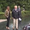 Sotii Trump au vizitat zonele inundate. Tinuta Primei Doamne, analizata indelung (VIDEO)