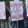 Sindicalistii de la metrou, protest la minister