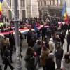 Funeraliile Regelui Mihai. Cadre impresionante de la procesiunea din centrul Capitalei