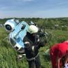 Elicopter cu doi oameni la bord, prabusit la Turda. Imagini de la locul accidentului