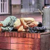 Din cauza caldurii, chinezii dorm pe strazi