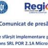 Comunicat de presă  Anunț de sfârșit implementare proiect la Inovo Solutions SRL POR 2.1A MicroIntreprinderi