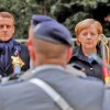 Merkel si Macron, singurii racani ai armatei europene