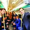 Cei mai buni jucatori de tenis, campioni şi in metrou