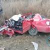 Accident cumplit in Arad: un om a murit dupa ce o masina s-a facut praf in urma impactului cu un TIR