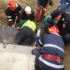 Traversa unui pod s-a prabusit in Gorj: patru oameni raniti