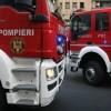 Incendiu si fum puternic la o hala din Capitala