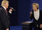 """Meciul Trump-Hillary, un """"ba pe-a ma-tii"""" televizat"""