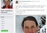Copila-campioana ucisa de avalansa din Retezat,ultimul mesaj postat