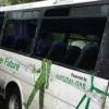 Autobuz acrosat de un TIR si aruncat de pe sosea: 4 oameni in grija medicilor