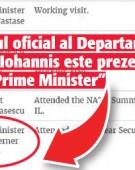 Iohannis, umilit oficial de Trump!