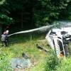 O cisterna cu combustibil s-a rasturnat pe A3 Bucuresti-Ploiesti