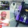 Accident de groaza: lovit in plin de un autobuz, ca la bowling!