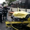 Accident foarte grav in Capitala, soldat cu doi morti si doi raniti