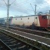 Locomotiva unui tren cu destinatia Bucuresti a luat foc pe drum
