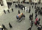 Slujba de inmormantare a Regelui Mihai, oficiata la Patriarhie, s-a incheiat