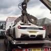 Ferrari concasat din greseala