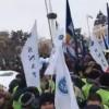 Sute de sindicalisti din politie si penitenciare, protest in fata MAI