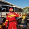 Accident cu doua autobuze, la Satu Mare. 12 raniti, doua victime fiind incarcerate