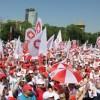 Protest Sanitas in Piata Victoriei. Restrictii de circulatie pe durata mitingului