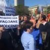 Sindicalistii din domeniul feroviar, protest la MT si la Guvern