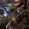 Accident cumplit: masina aruncata pe calea ferata si izbita de tren