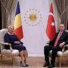 Imagini de la intrevederea premierului Dancila cu presedintele Turciei (VIDEO)