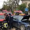 Accident rutier- trei masini implicate, patru oameni la spital