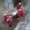 Persoana accidentata grav pe munte. S-a chemat elicopterul SMURD
