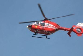 Elicopter SMURD pe Autostrada A3, in urma unui accident