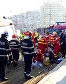 Bărbat rănit, după ce două tramvaie s-au tamponat în Capitală