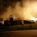 Masini facute scrum intr-o parcare din Curtea de Arges. Principala ipoteza (VIDEO)