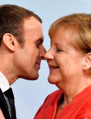 Iubirea franco-germană: Macron o va susține Merkel pentru preşedinţia Comisiei Europene