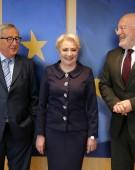 Dăncilă, întrevedere cu Junker și Timmermans la Bruxelles (VIDEO)