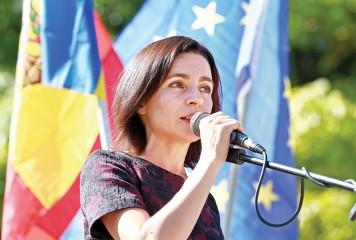 Maia Sandu inchina Moldova globalistilor de la Bruxelles