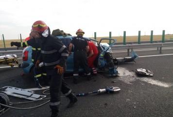 A sfarsit in drumul catre mare, intr-un cumplit accident pe A2