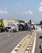 Accident cumplit cu doua TIR-uri, pe DN 5 Bucuresti-Giurgiu